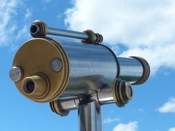 vintage coins Telescope at sky