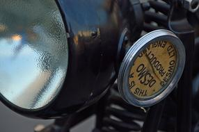 front Lamp of Old motorcycle
