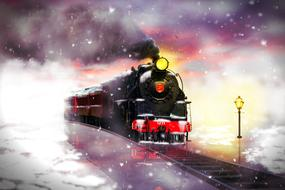 attractive Railway Train Winter