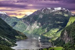 attractive Fjords Norway Landscape
