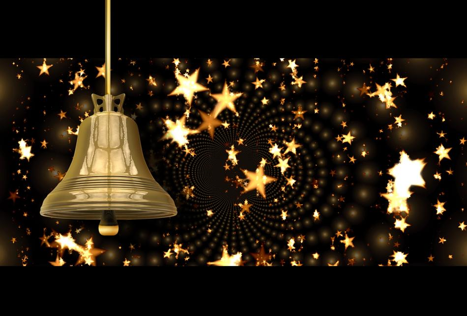 christmas bell star gold