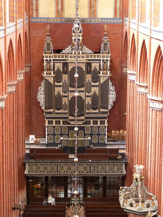 gorgeous Organ in Church, germany, Wismar