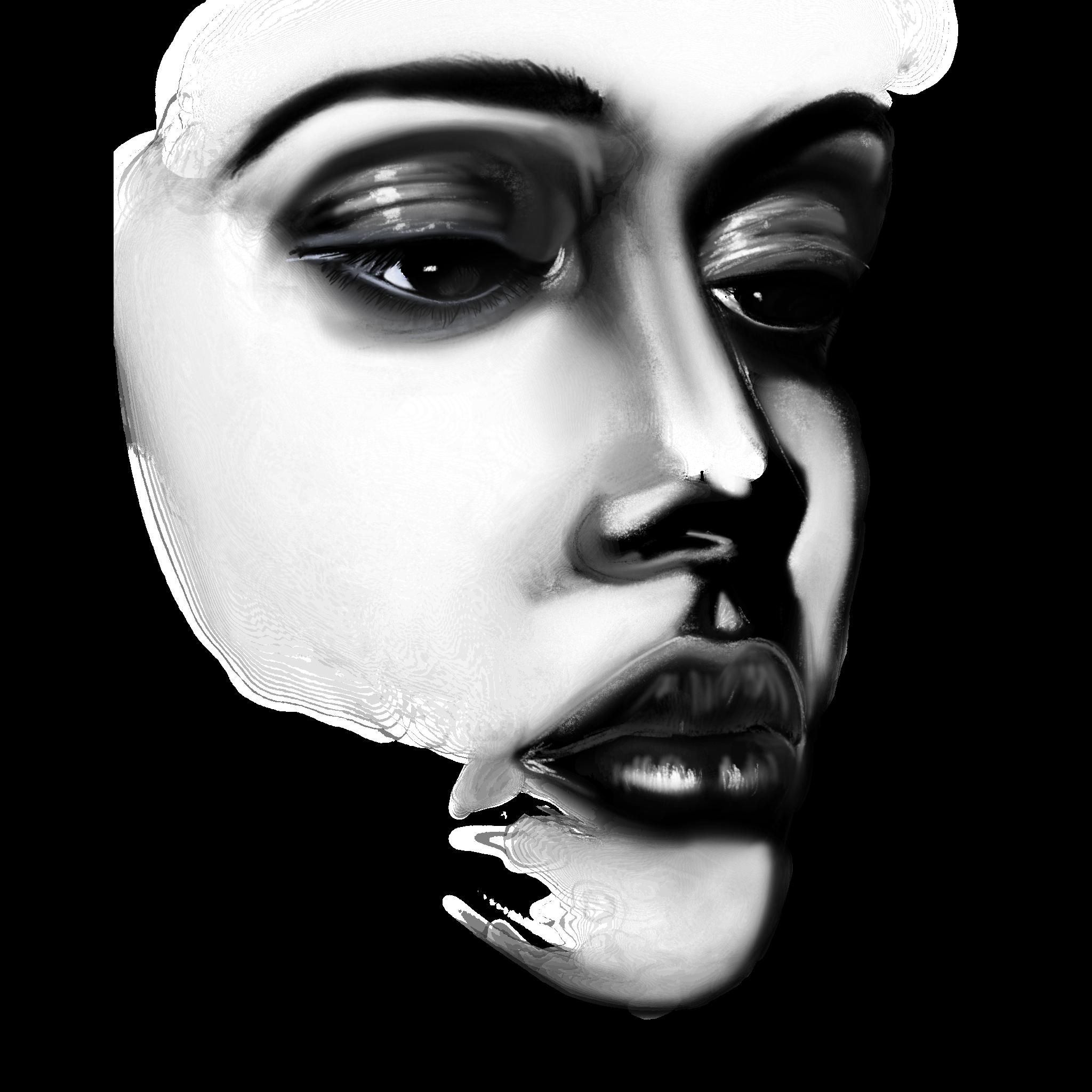 Art Sketch Girl Face Drawing Free Image
