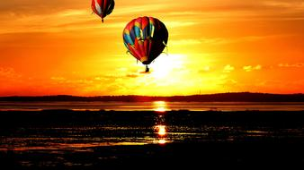 incredibly beautiful Sunset Balloons Sky