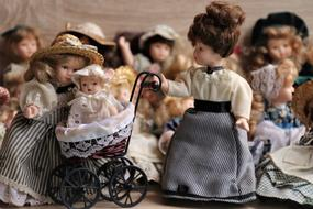 retro porcelain dolls collection