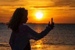 gorgeous Selfie Girl Silhouette