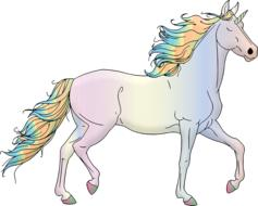 excellent unicorn rainbow drawing