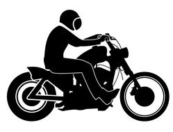 motorcycle silhouette person drawing