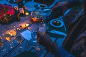 romantic dinner outdoor