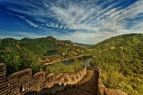 ancient Great Wall in gorgeous landscape, China