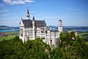 panoramic view of Neuschwanstein castle in bavaria