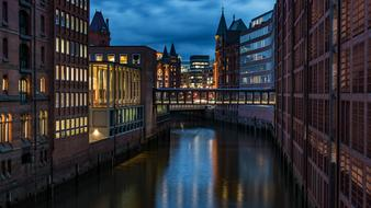 brick buildings in Hamburg, Germany