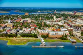 aerial view of Charleston in South Carolina, USA