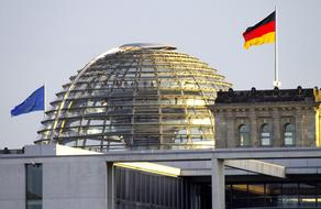 flags on government buildings, germany, berlin