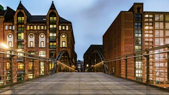 splendid Speicherstadt Hamburg Bridge