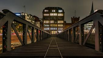 beautiful Speicherstadt Hamburg Bridge