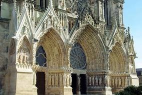 Reims Cathedral - Gothic cathedral in the French city of Reims
