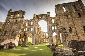 photo of the ruins of Rievaulx Abbey in England
