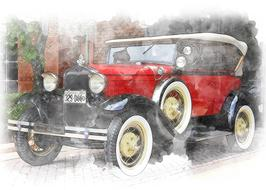 vintage car classic drawing