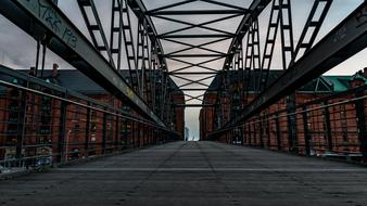 interior of old Bridge, germany, Hamburg, Speicherstadt