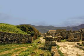 Pompeii is a large ancient Roman city, now a large-scale archaeological complex near the Gulf of Naples in the Campania region in southern Italy