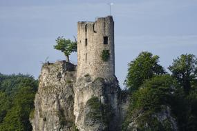 Burgruine Neideck, hiking attraction, scenic ruin, Germany, Bavaria