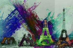 eiffel tower art drawing