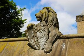 Stone Lion on roof