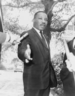 Martin Luther King photo monochrome