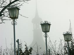 Switzerland Old City fog
