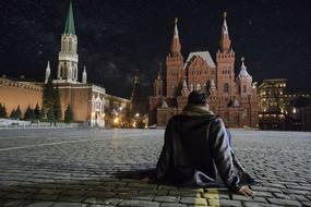 Red Square person Sitting