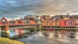 perfect Trondheim Norway Architecture