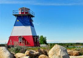 unusually beautiful Lighthouse Acadian Neguac