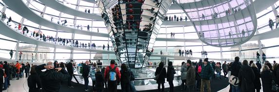 Berlin Reichstag Dome and people