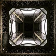 Eiffel Tower Paris bottom view