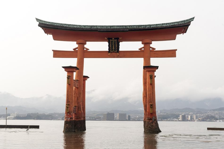 Great Torii is a Shinto shrine in Japan
