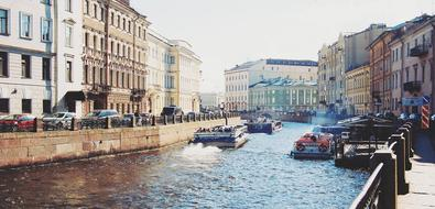 St Petersburg river Neva