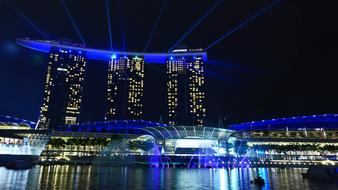 Singapore Marina Bay laser light