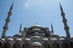 Istanbul Mosque Turkey blue sky