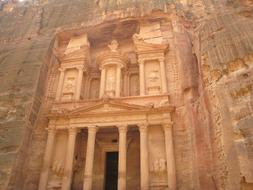 Petra Jordan Carved Wall ruins