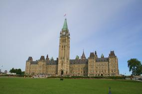 Canada Parliament green grass