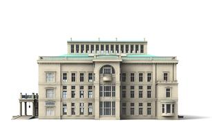 villa hill building 3d