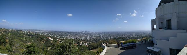 Griffith Observatory and city