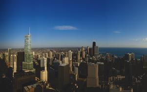 Trump Tower Chicago blue sky