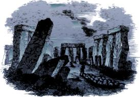 stones monument mystical drawing