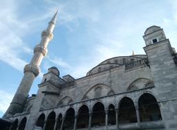 Blue sky and Mosque Istanbul