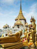 Thailand Temple Gold statue