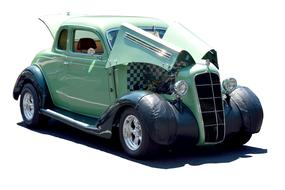 Customized Car Vintage green