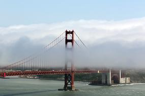 red Golden Gate Bridge Fog