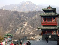 Great Wall China red tample